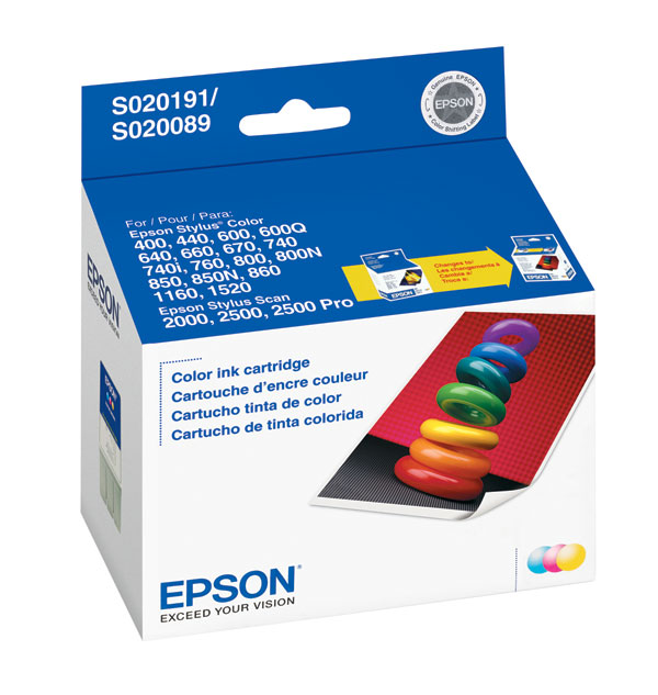 Genuine OEM Epson S191089 Tri-Color Ink Cartridge