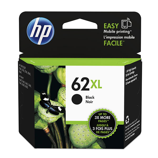 Genuine OEM HP C2P05AN (HP 62XL) High Yield Black Ink Cartridge (600 page yield)