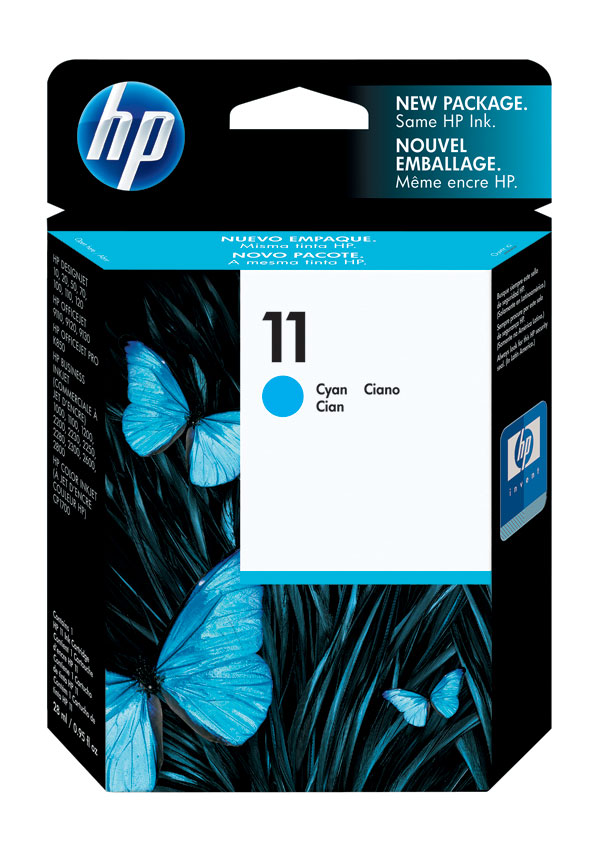 Genuine OEM HP C4836A (HP 11) Cyan Ink Cartridge (1750 page yield)